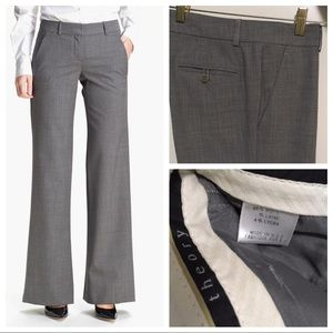 Theory Gray Wool Trousers